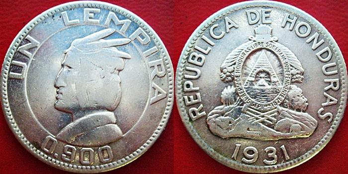 1 Lempira. Honduras. 1931  Page