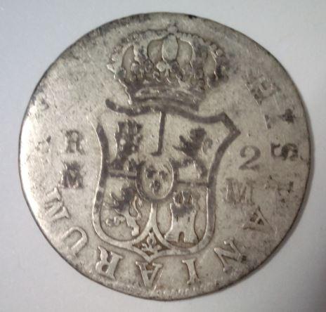 2 reales de Carlos III, ceca de Madrid. Fer