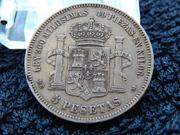 5 pesetas 1875 D.E.  M.   18* 75* DSCN2358