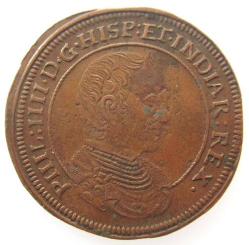 Jetón de Felipe IV. Amberes. 1661. La Paz, fuente de Prosperidad. Nacimiento de Carlos II. KGr_Hq_JHJDIE7z_Cgp_GJm_BPE_l_DK8_Fw_60_12