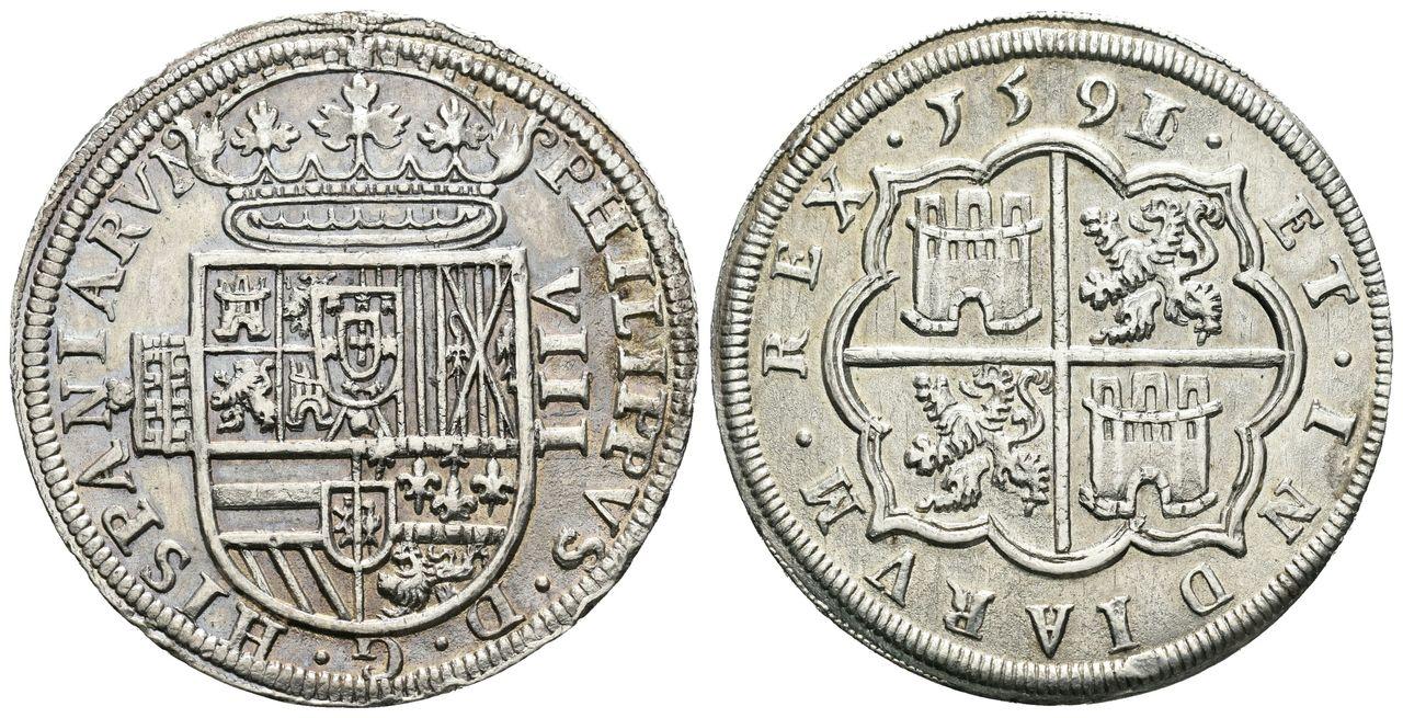 Felipe II (1556-1598). 8 reales. 1591/0. Segovia. 001-19-289