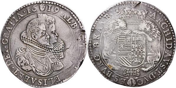 Ducatón de Alberto e Isabel. 1619 . Amberes. Image00381