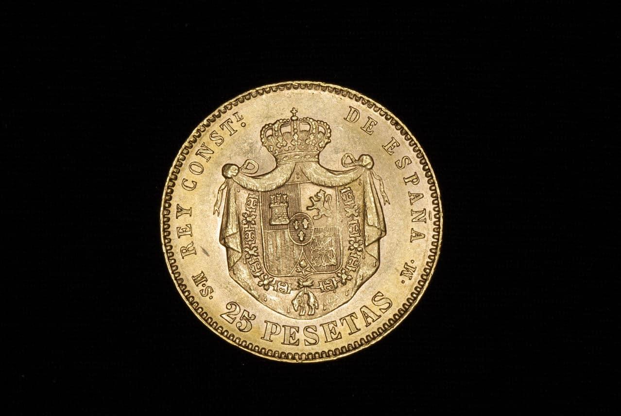 25 pesetas Alfonso XII 1884 Madrid Imagen_178