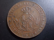 5 Céntimos de Escudo 1.866. Isabel. Barcelona. Sin OM DSCN1164
