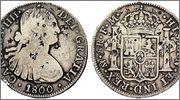 8 reales carlos IV 1796 resellos ??? Image