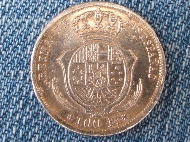 Isabel II Falsa de época en platino 009