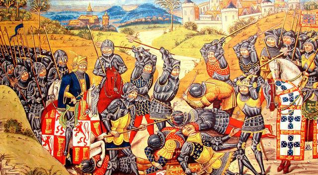 La batalla de Aljubarrota contada por una Blanca del Agnus Dei. Sevilla Aljubarrota_1385