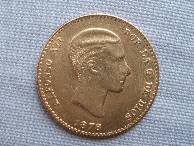 10 Pesetas 1878 *62 Alfonso XII (reacuñación ) 010