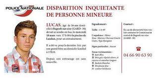 Disparition Lucas Tronche I Index
