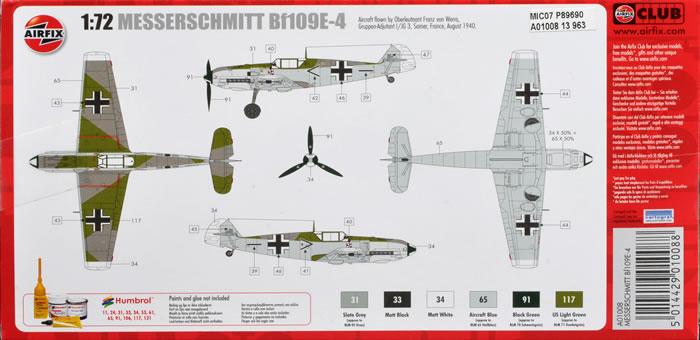 Messerschmitt Bf 109 E-3 / E-4 arfix Airfixa01008reviewgp_5