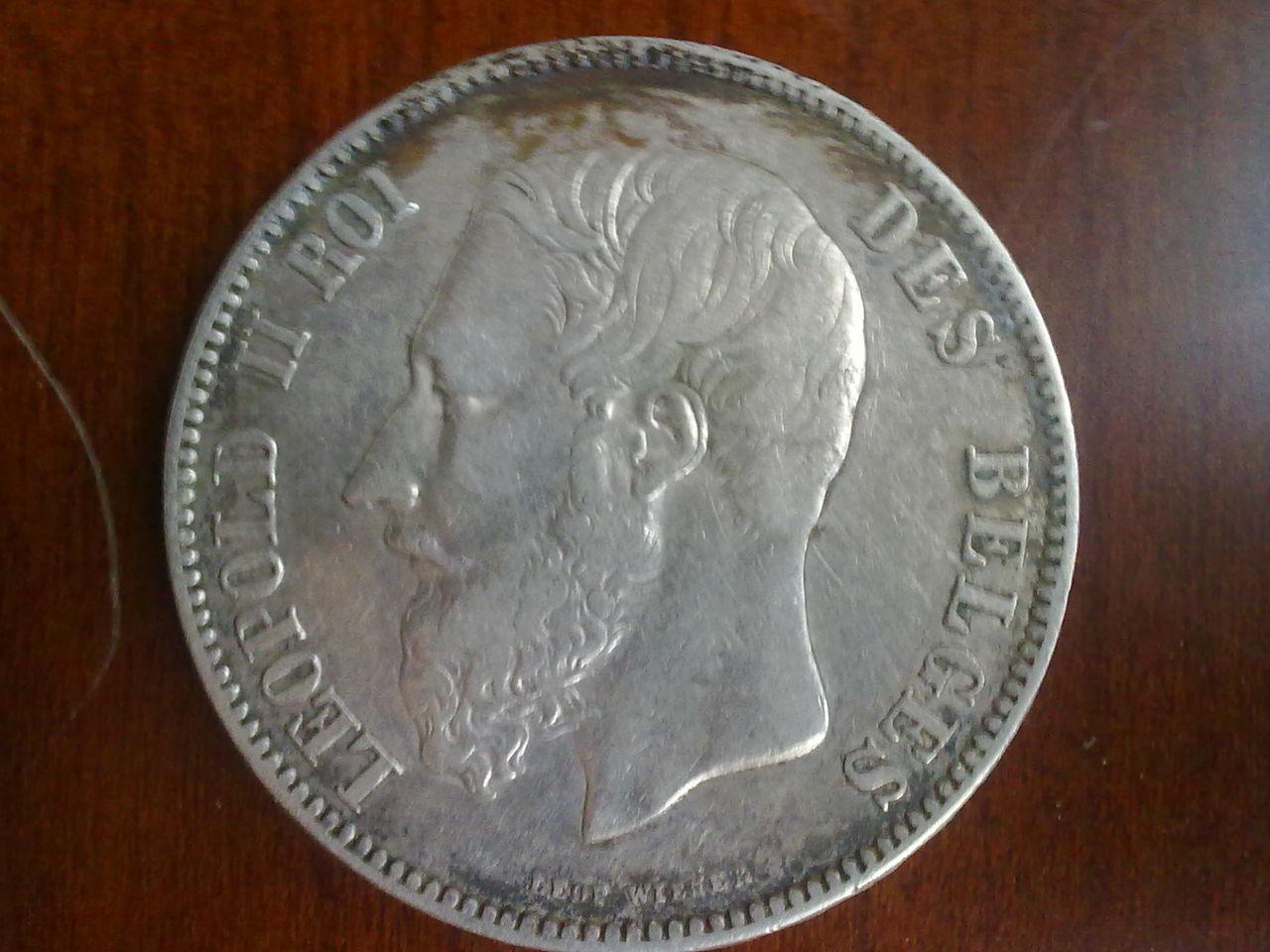 5 Francs. Belgica. 1869. Bruselas Nn_012