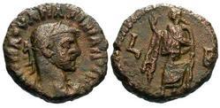 Tetradracma AE de Maximiano Hércules. Ceca Alejandría. Tetradracma