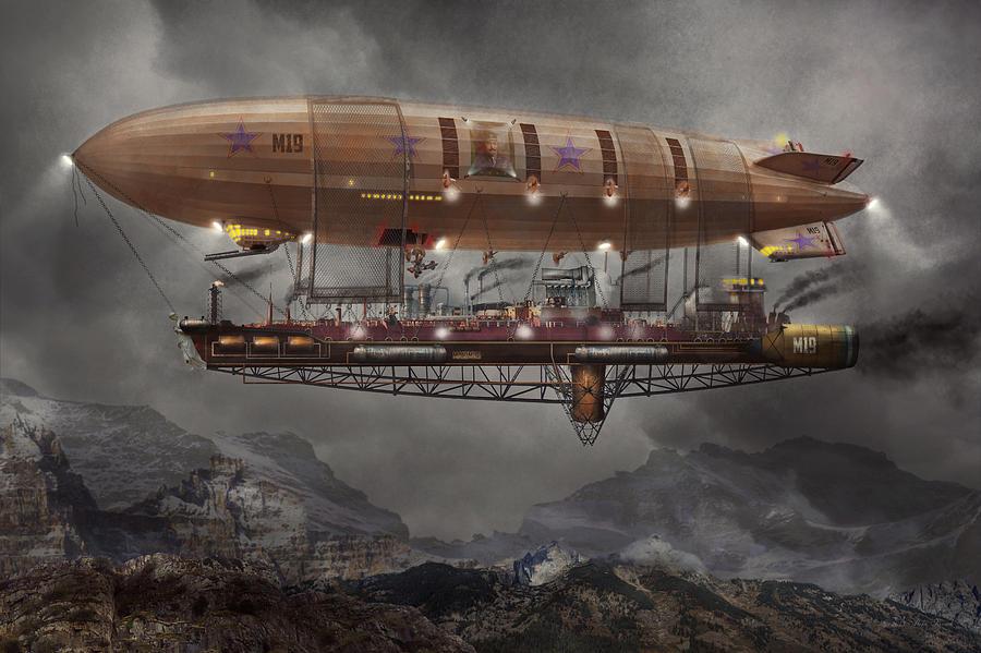 [CONCURSO] Descubre los Orígenes Steampunk_blimp_airship_maximus_mike_savad