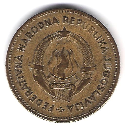 50 Dinares. Yugoslavia (1955) YUG_50_Dinares_anv