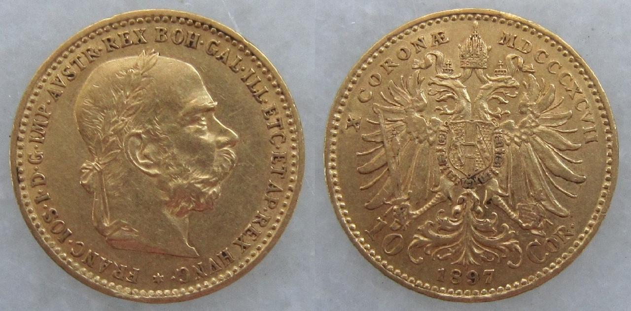 10 Coronas. Austria. 1897 10_coronas_Austria_1897
