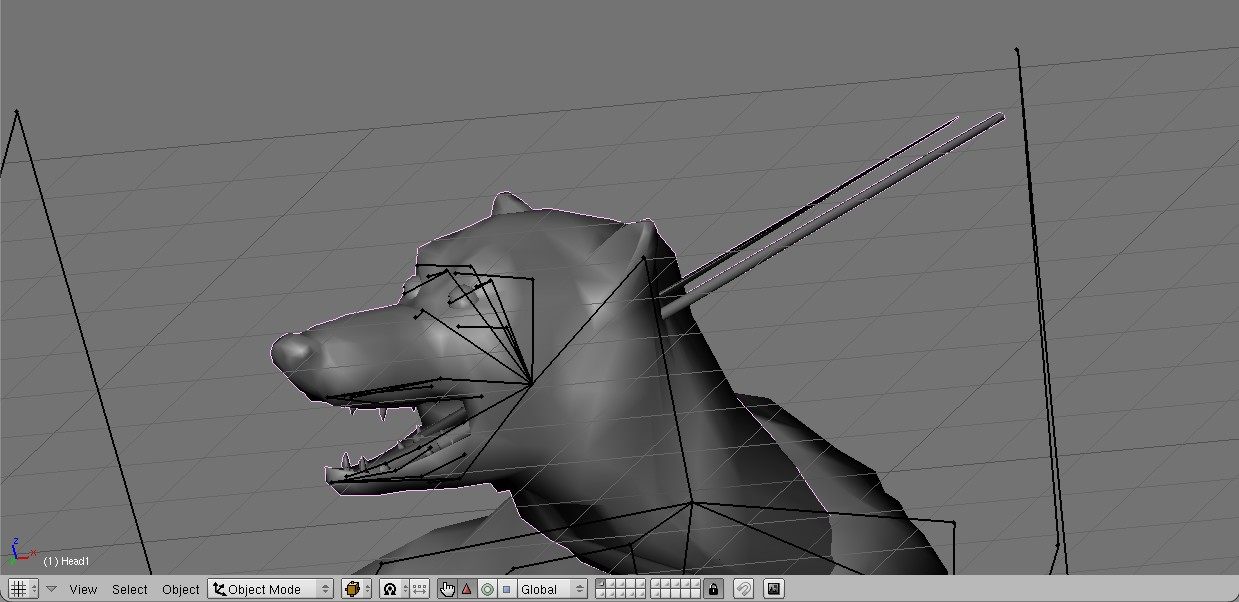blender - Vertices not following the rest of the model in Blender Uno