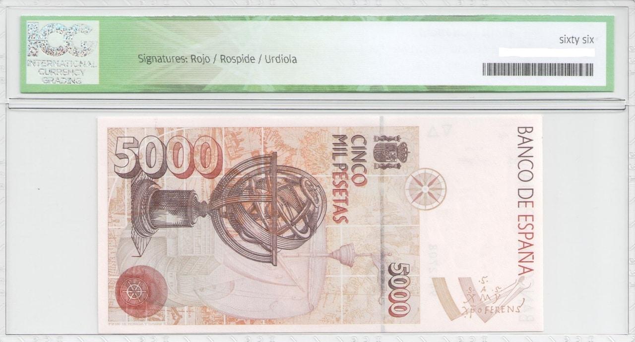 Colección de billetes españoles, sin serie o serie A de Sefcor - Página 2 5000_del_92_reverso