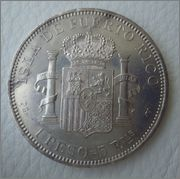 1 PESO=5 Ptas ALFONSO XIII  PUERTO RICO 1895 Image