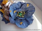 Скрапбукинг. Голубой мак, карандашница или декорваза для сухоцветов. 1_DSCF1994