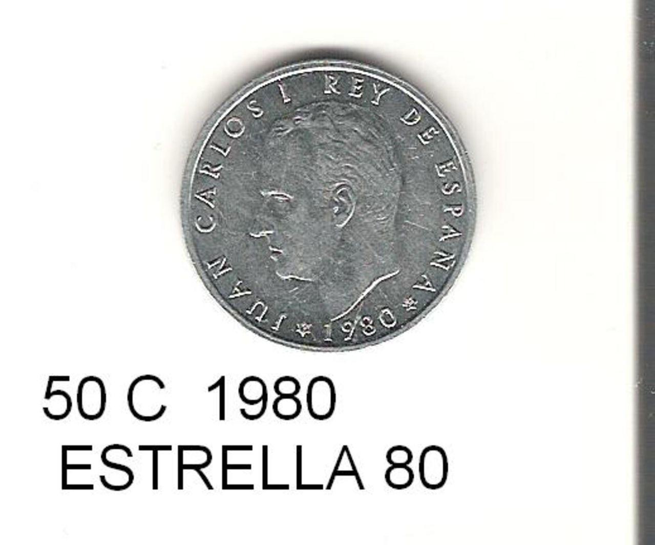 50 Céntimos 1980 (* 19-80). Juan Carlos I. 50_CENTIMOS_2