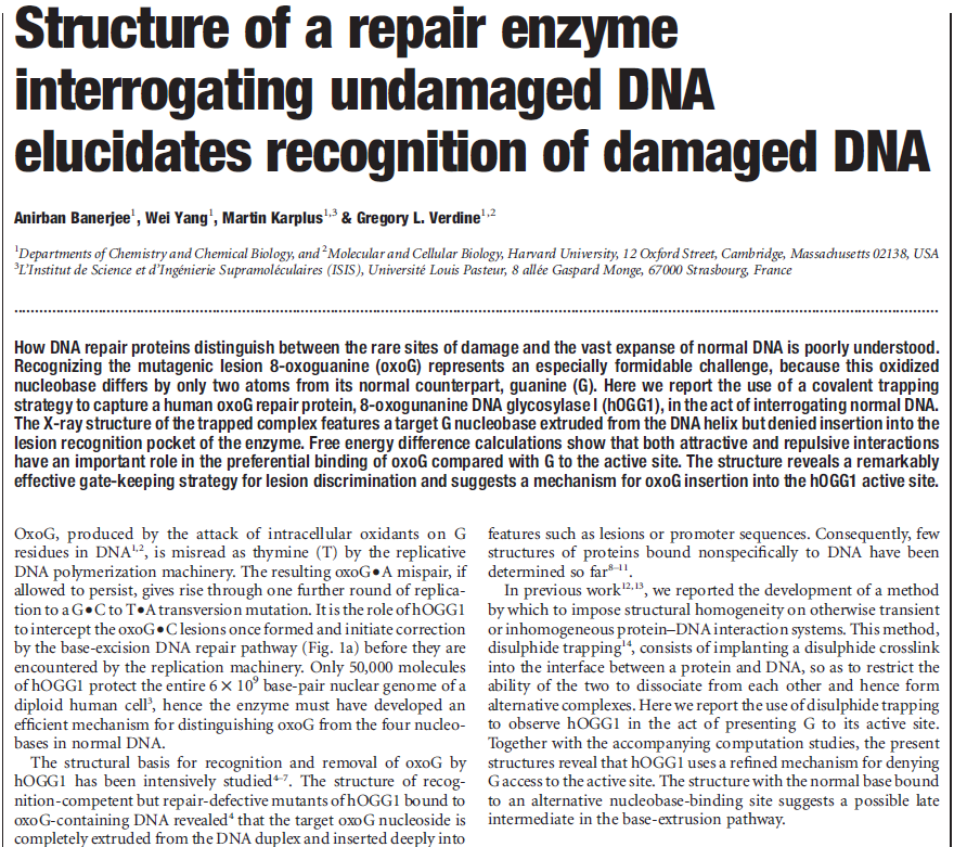 DNA and RNA error checking and  repair, amazing evidence of design DNA_repair_enzyme