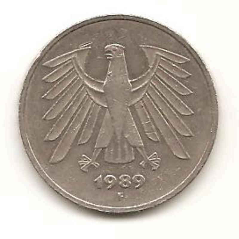 5 Mark. R. Federal Alemana. 1989   Image