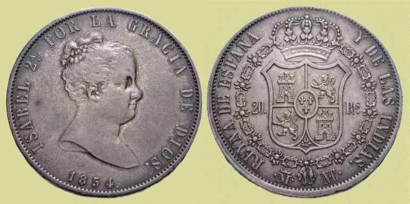 1 Real 1849 Isabel II - Madrid 1834_20reales_madrid_1