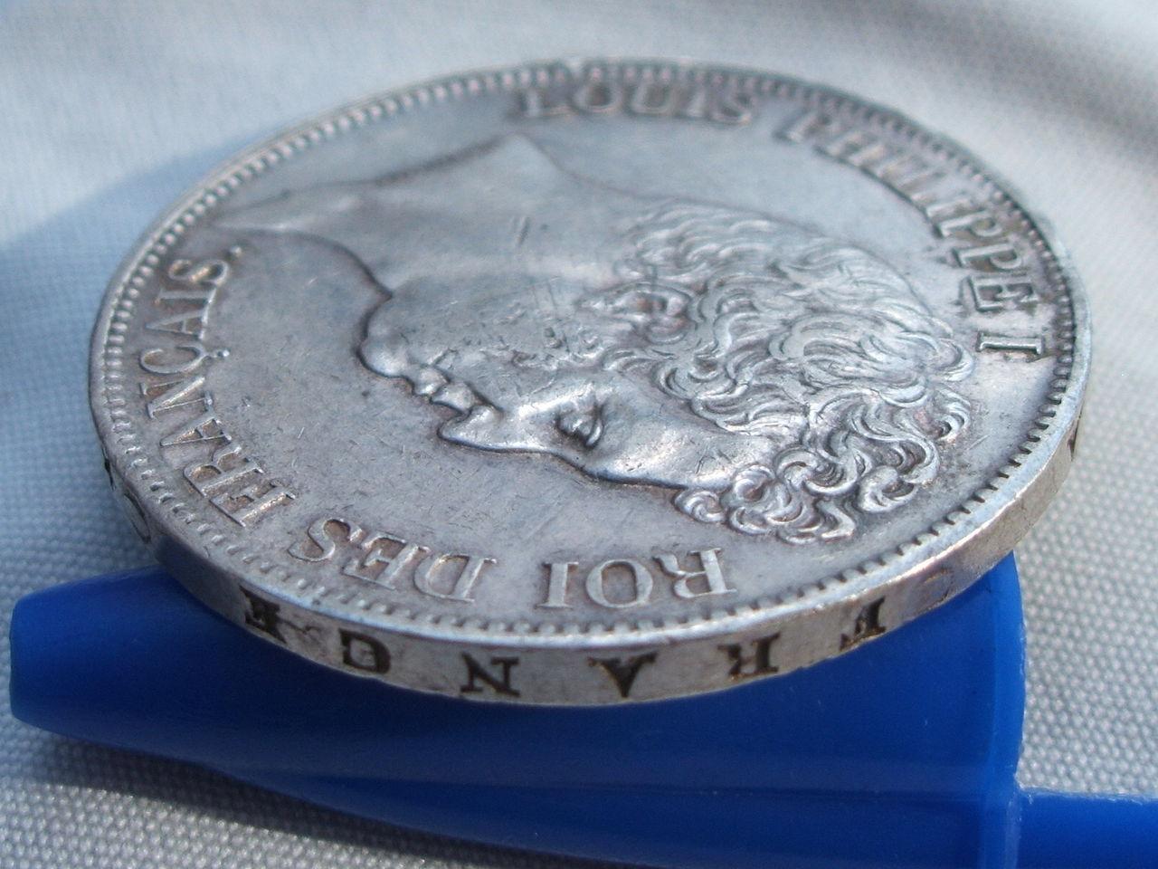 5 Francos de 1830 (Marsella). Luis Felipe I. Francia. Ssss