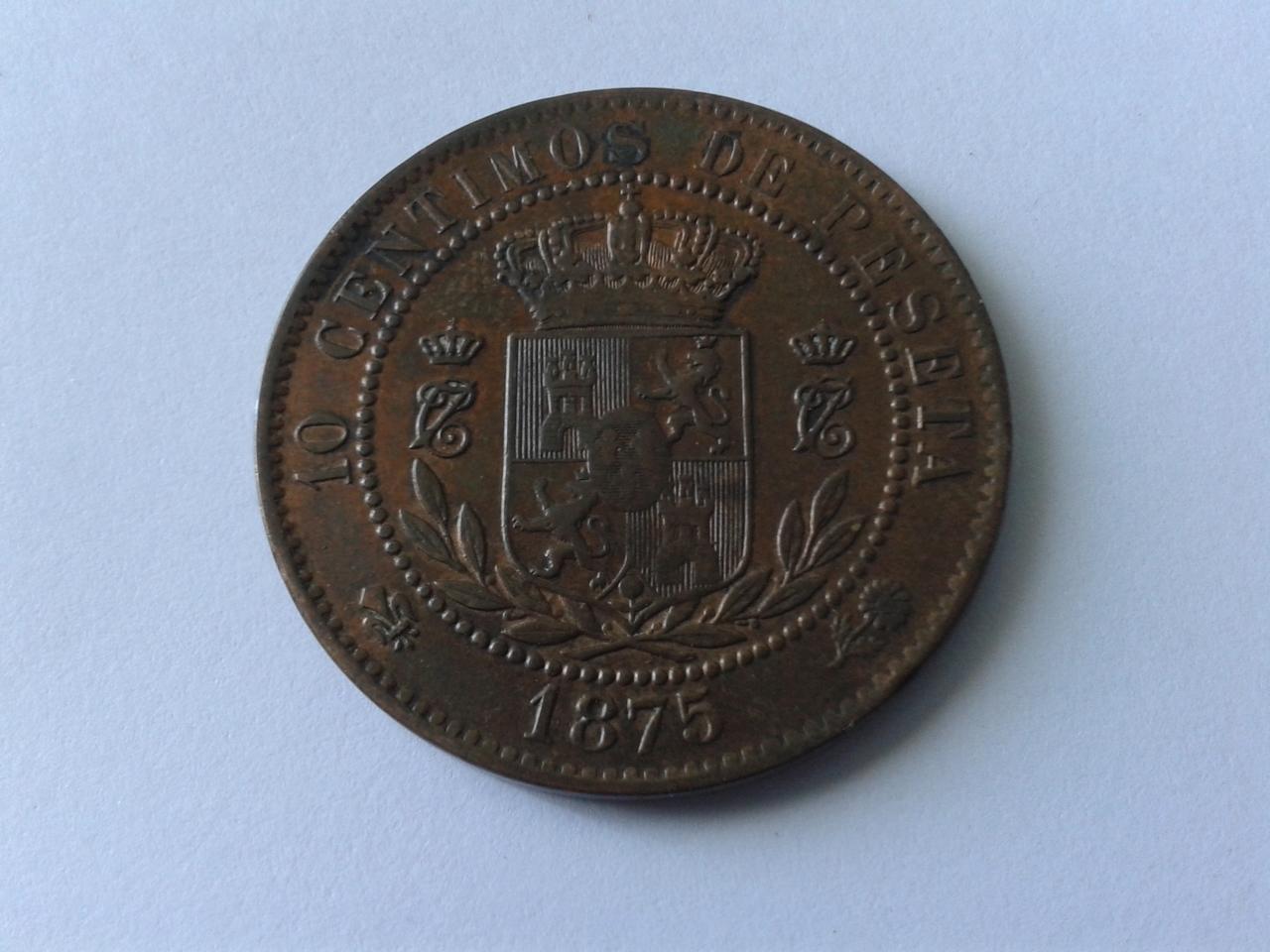 10 céntimos 1875 - Carlos VII 20141026_160115