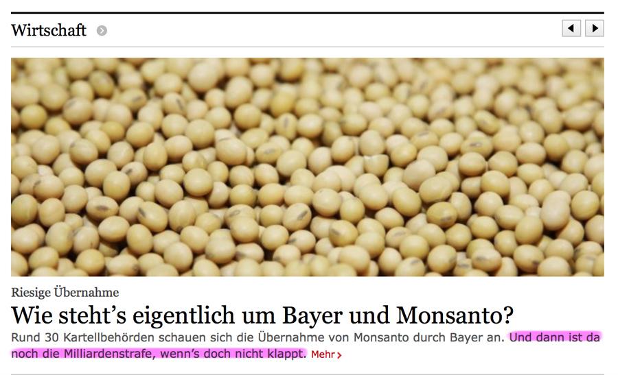 Als Rettung, Übernahme, Fusion getarnte Raubzüge der 'Auserwählten' Bayermons