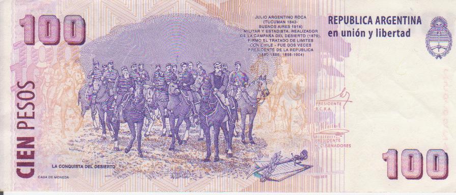 """Billetes del mundo con serie """"Ñ"""" 100_pesos_serie_rev"""