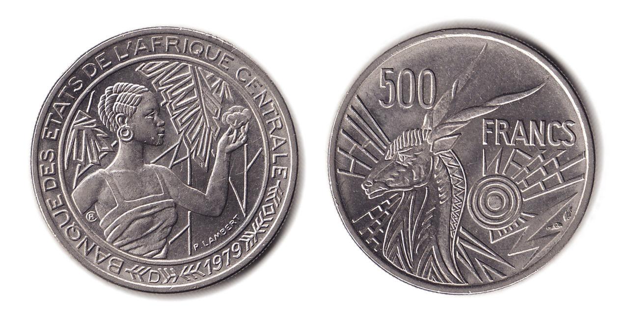 500 francos del  Banque des États de l'Afrique centrale M_m