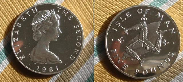 5 Libras de la Isla de Man. 1981 5_p_1981_isla_de_man