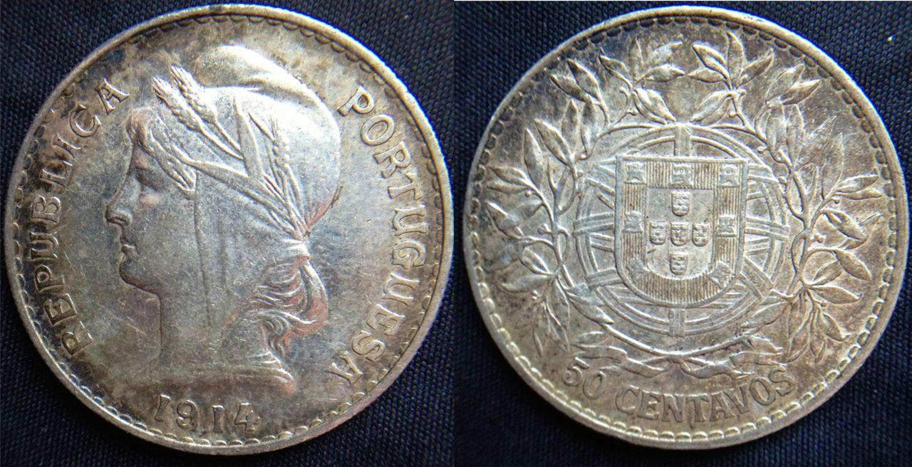 50 Centavos. Portugal. 1914. Lisboa 50_centavos_1914_Portugal