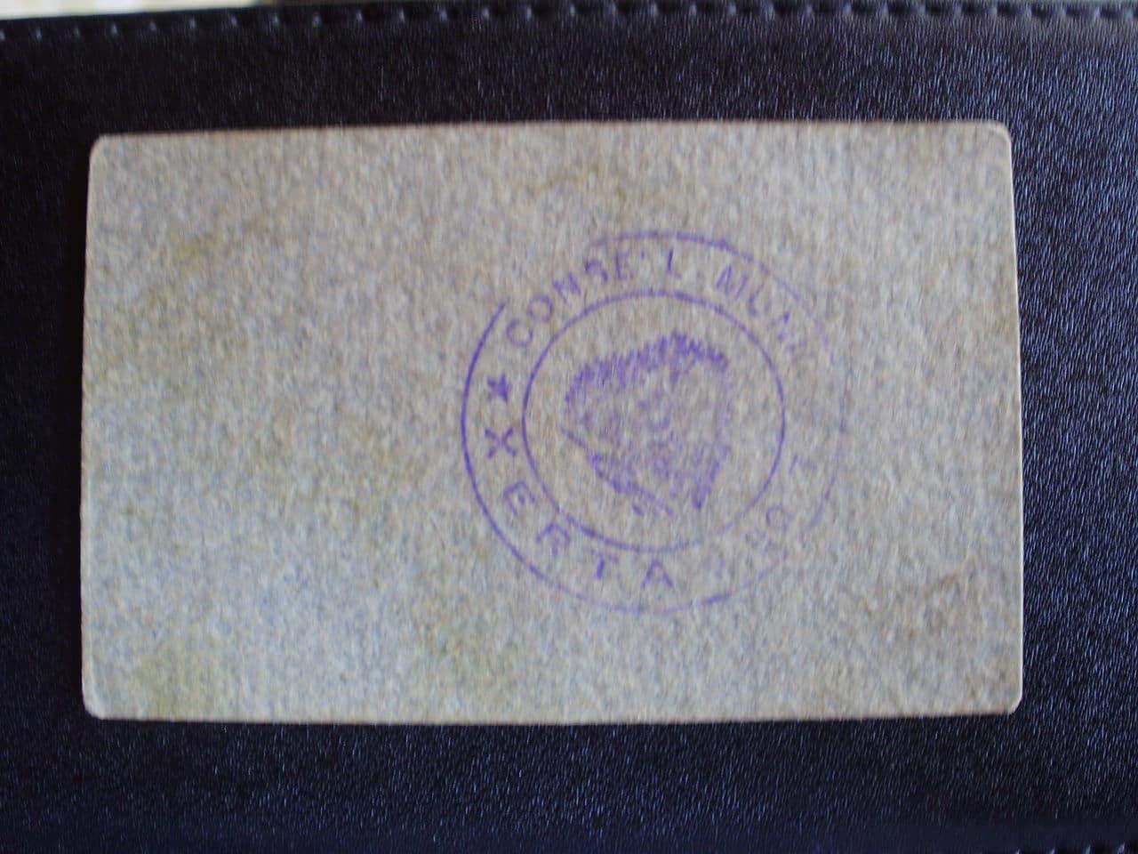 25 Céntimos Xerta, 1937 (T-2921) P7240450