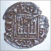"Dinero ""novén"" de Alfonso XI. (1312-1350). Burgos. 812676810_2"