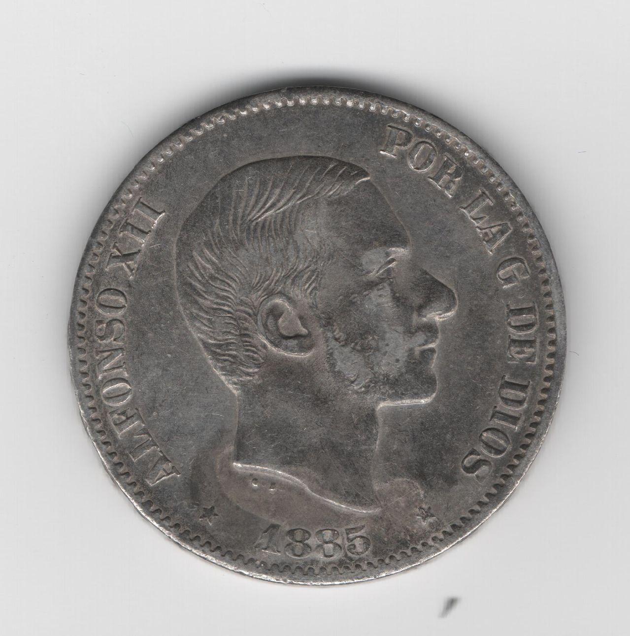 50 Centavos de peso 1885 Alfonso XII - Manila 50_Ctv_Peso_1885_Manila