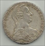 1 Thaler de Maria Teresa. Austria. 1780. Reacuñación.  1_talher_1780_anv