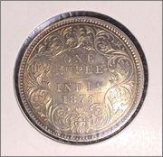 One rupee 1879 India Image