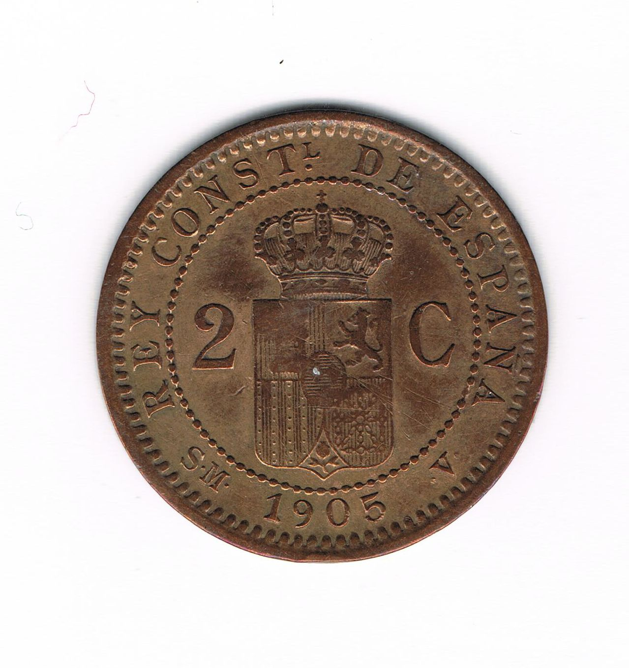 2 Céntimos 1905 Alfonso XIII 2_Cts_1905_b
