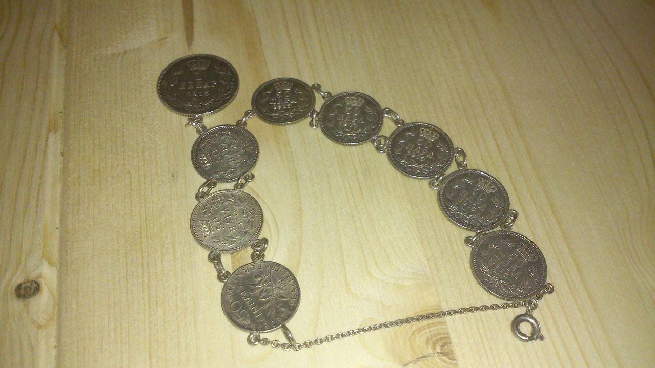 Pulsera monedas plata DSC_0008