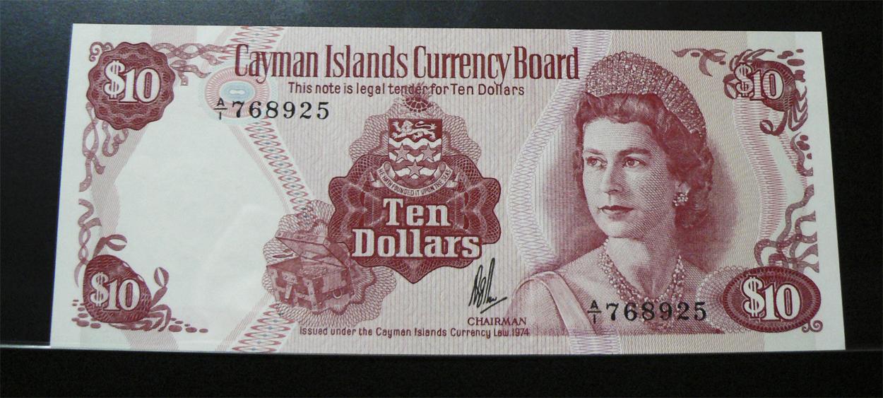 10 Dólares Islas Caimán, 1974 Ci7