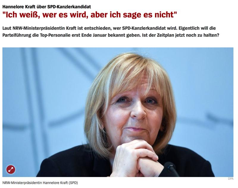 Umfrage / Vorerklärung: Wer wird SPD-Kanzlerkandidat? Hkraft