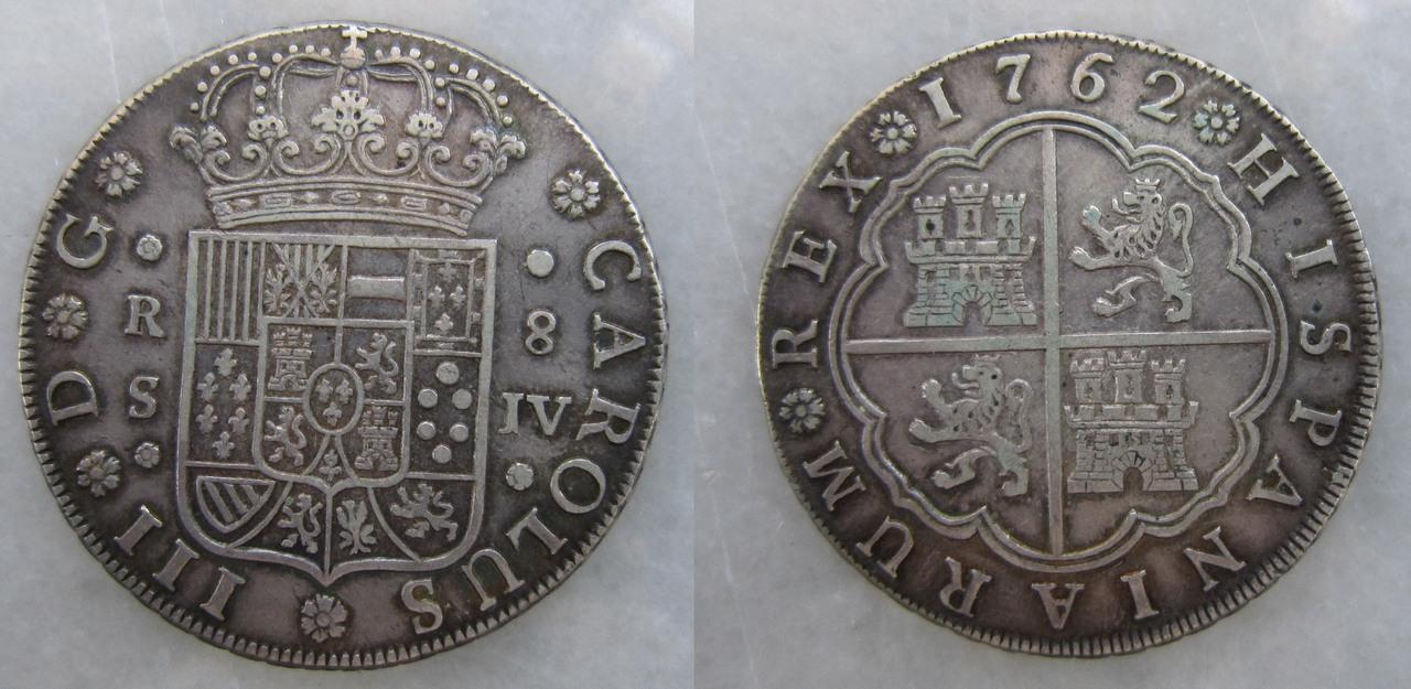 8 reales Carlos III. Ceca de Sevilla 1762 8_reales_Carlos_III_Sevilla_1762