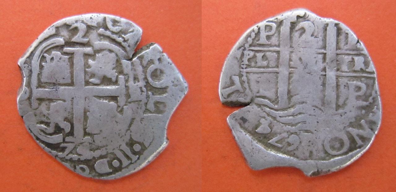 2 Reales Macuquinos 1674. Carlos II Ceca Potosi 2_reales_macuquinos_1674_Potos