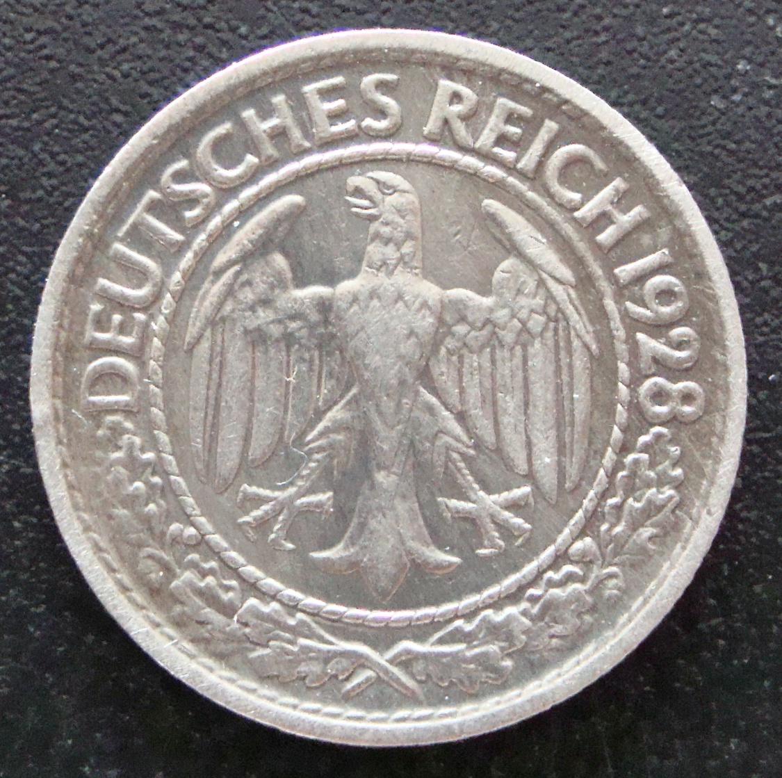 50 Reichspfennig. Alemania (1928) ALE_50_Reichspfennig_1928_anv