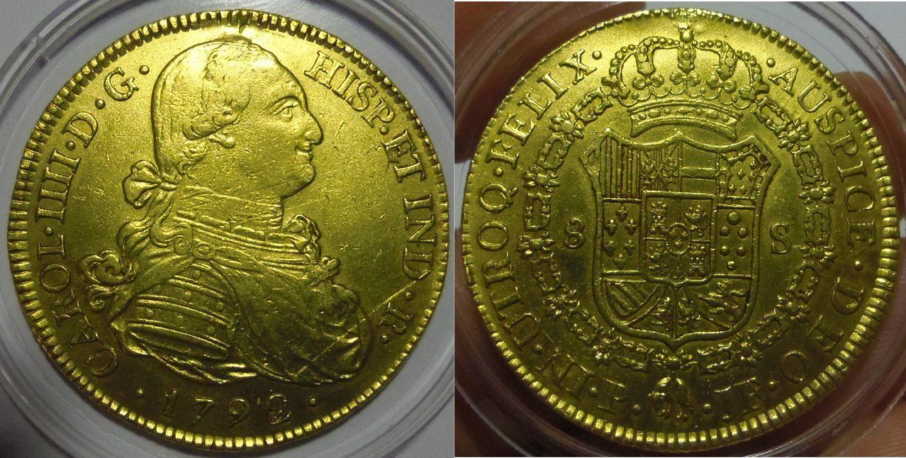 8 Escudos. Carlos IV. Popayán (Colombia). 1792. IMGP3668