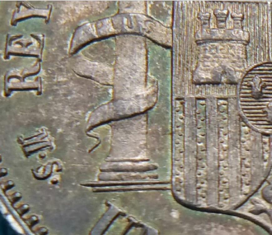 1 PESETA  ALFONSO XII 1885 *85 Image
