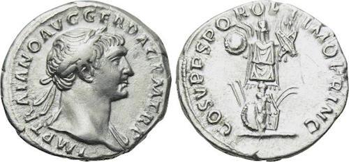 Denario de Trajano. COS V P P SPQR OPTIMO PRINC. Trofeo. Roma 98-117 d.C Denario_trajano_copia