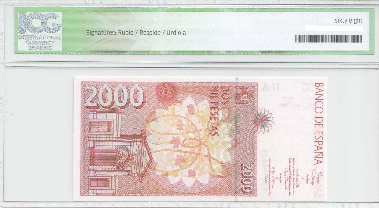 Colección de billetes españoles, sin serie o serie A de Sefcor - Página 2 2000_del_92_reverso